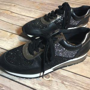 NWOT Michael Kors Allie Glitter Sneakers